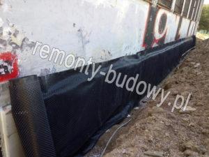 Izolacja pionowa fundamentu łódź